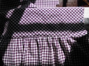 紫ギンガム後ろヨーク
